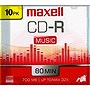 Maxell 40x Music CD-R Media - 700MB - 10 Pack