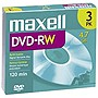 Maxell 2x DVD-RW Media - 4.7GB - 3 Pack