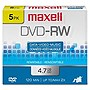 Maxell 2x DVD-RW Media - 4.7GB - 120mm Standard - 5 Pack Jewel Case