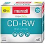Maxell 4x CD-RW Media - 700MB - 10 Pack