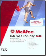 McAfee Internet Security '10 - 3 User Family Pack (Exclusive Offer)