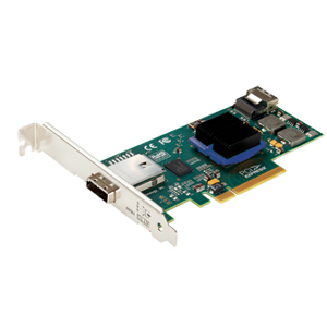 ATTO ExpressSAS H644 8-channel SAS Controller - PCI Express x8 - 600MBps Per Port - 1 x 4-pin SFF-8088 mini SAS 300 - Serial Attached SCSI External, 1 x 4-pin SFF-8087 mini SAS 300 - Serial Attached SCSI Internal