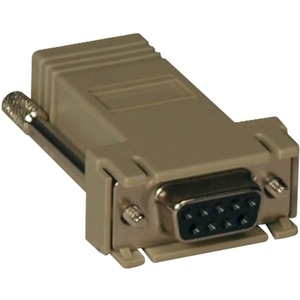 Tripp Lite B090-A9F-X Modular Adapter - 1 x DB-9 Female Serial - 1 x RJ-45 Female Network - Beige