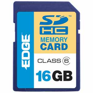 EDGE Tech HD Video 16GB Secure Digital High Capacity (SDHC) Card - Class 6 - 16 GB