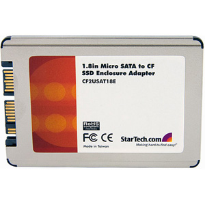 StarTech.com 1.8in Micro SATA to Compact Flash Solid State Drive Enclosure Adapter - CompactFlash (CF) Card - Micro SATA