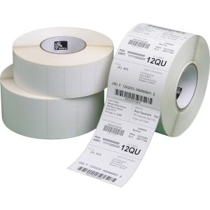 "Zebra Label Paper 3 x 2in Direct Thermal Zebra Z-Perform 2000D 1 in core - 3"" Width x 2"" Length - 1240/Roll - 1"" Core - 6 / Carton - White"