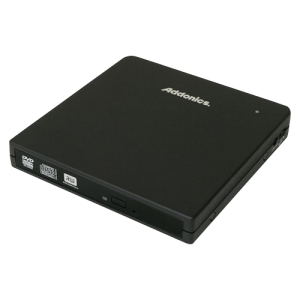 Addonics Pocket 8x DVD±RW Drive - Double-layer - DVD-RAM/±R/±RW - 8x 8x 8x (DVD) - 24x 24x 24x (CD) - USB, External SATA - External - Black