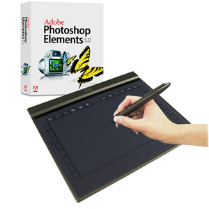 "Adesso Cybertablet Z12A Ultra Slim Graphics Tablet - 10"" x 6.25"" - 2000 lpi - Pen - USB"
