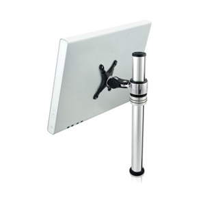 "Visidec Focus Micro Mount - For Flat Panel Display - 12"" to 22"" Screen Support - Aluminum - Polished Silver"