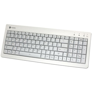 I-Rocks KR-6820E Compact USB Keyboard - USB - 104 Keys - White