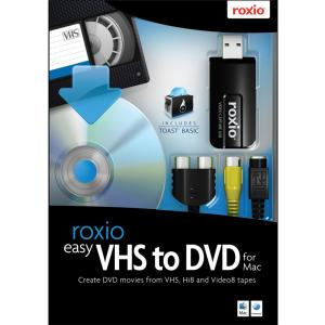 Roxio Easy VHS to DVD with USB 2.0 TV/Video Capture Device - Complete Product - 1 User - Utility - Standard Retail - Mac, Intel-based Mac