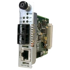 Transition Networks Ethernet Point System Slide-In-Module Media Converter - 1 x RJ-45 , 1 x SC Duplex - 10Base-T, 10Base-FL