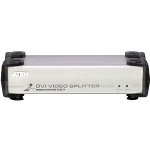 Aten VS162 2-port DVI VGA Splitter - 3 x DVI-I Monitor - 1600 x 1200