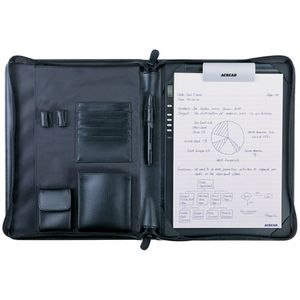 ACE CAD PF200 Deluxe Zip Portfolio for DigiMemo - Book Fold - Synthetic Leather - Black