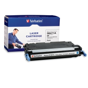 Verbatim HP Q6471A Compatible Cyan Toner Cartridge (3600) - Cyan - Laser
