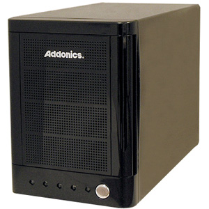 Addonics MST5X1PM-B Hard Drive Enclosure - 4 x 3.5&quot; - 1/3H Internal - External - Black