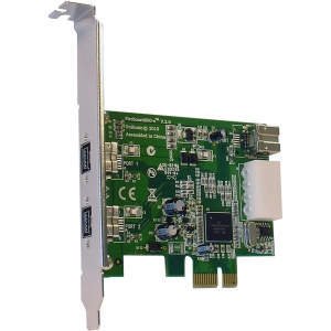 Unibrain FireBoard800-e V.2 3 Port FireWire Adapter - 2 x 9-pin IEEE 1394b FireWire External, 1 x 6-pin IEEE 1394a FireWire Internal - Plug-in Card - Bulk