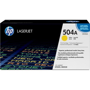 HP 504A Yellow Toner Cartridge - Yellow - Laser - 7000 Page