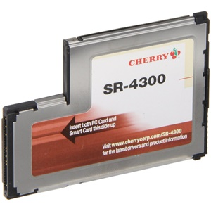 Image of Cherry SR-4300 ExpressCard Smart Card Reader - Smart Card - ExpressCard