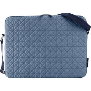 "Belkin Quilted Notebook Carrying Case - 16"" x 12.5"" x 1.25"" - Polyester - Denim, Midnight"