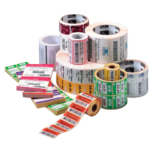 "Zebra Label Paper 2.25 x 0.75in Thermal Transfer Zebra Z-Select 4000T 1 in core - 2.25"" Width x 0.75"" Length - 3320/Roll - 1"" Core - 6 / Carton - Bright White"