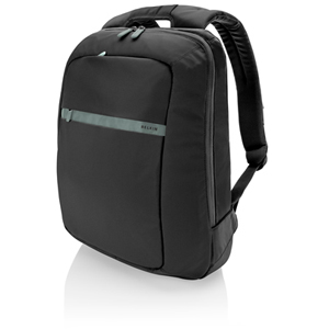 Belkin Core Notebook Backpack - Pitch Black, Soft Gray
