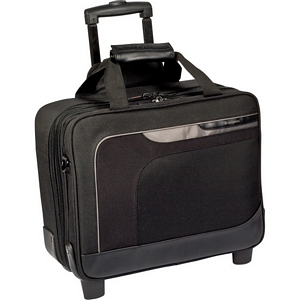 "Targus Zip-Thru Carrying Case (Roller) for 15.6"" Notebook - Black, Gray - Nylon, Polyester"