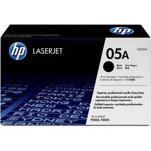 HP 05A Black Toner Cartridge - Black - Laser - 2300 Page - 1 Each