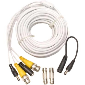 Q-see QS50B Video Extension Cable with Power - BNC Male - BNC Male - 50ft
