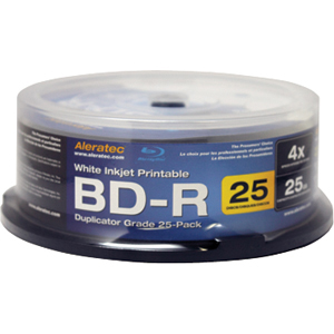 Aleratec 4x BD-R Media - 25 Pack
