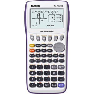 "Casio FX-9750GII Graphing Calculator - 8 Line(s) - 21 Character(s) - LCD - Battery Powered - 0.9"" x 3.6"" - White"