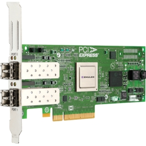 EMC LightPluse Dual Port Fibre Channel Host Bus Adapter - 2 x LC - PCI Express 2.0 - 8Gbps