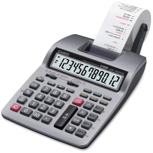 Casio Printing Calculator - 12 Character(s) - Power Adapter, Battery Powered