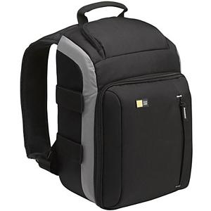 "Case Logic TBC-307 SLR Camera Backpack - 14.76"" x 9.5"" x 6.5"" - Dobby Nylon - Black"