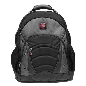 Wenger Swissgear Synergy Backpack - Nylon, Poly, Ripstop Nylon - Gray