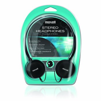 Maxell HP-200 Stereo Headphone - Stereo - Wired - 32 Ohm - 20 Hz 20 kHz - Nickel Plated - Dynamic - Open - 4 ft Cable