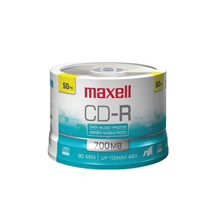 Maxell CDR80M 50 Recordable CD for Audio CD Recorders