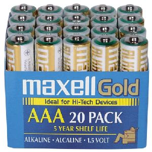 Maxell AAA Alkaline Battery 20 Pack
