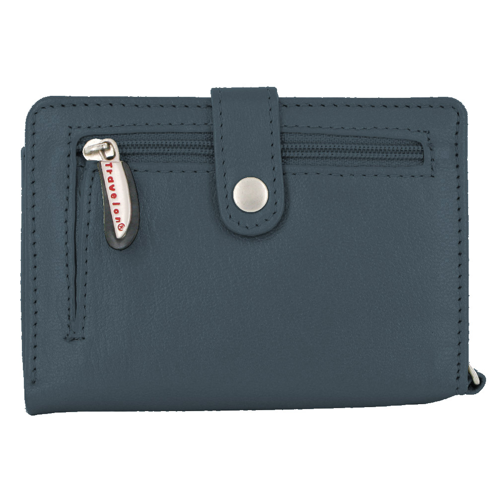 Travelon Leather Wallet/Wristlet in One (Navy) at Sears.com