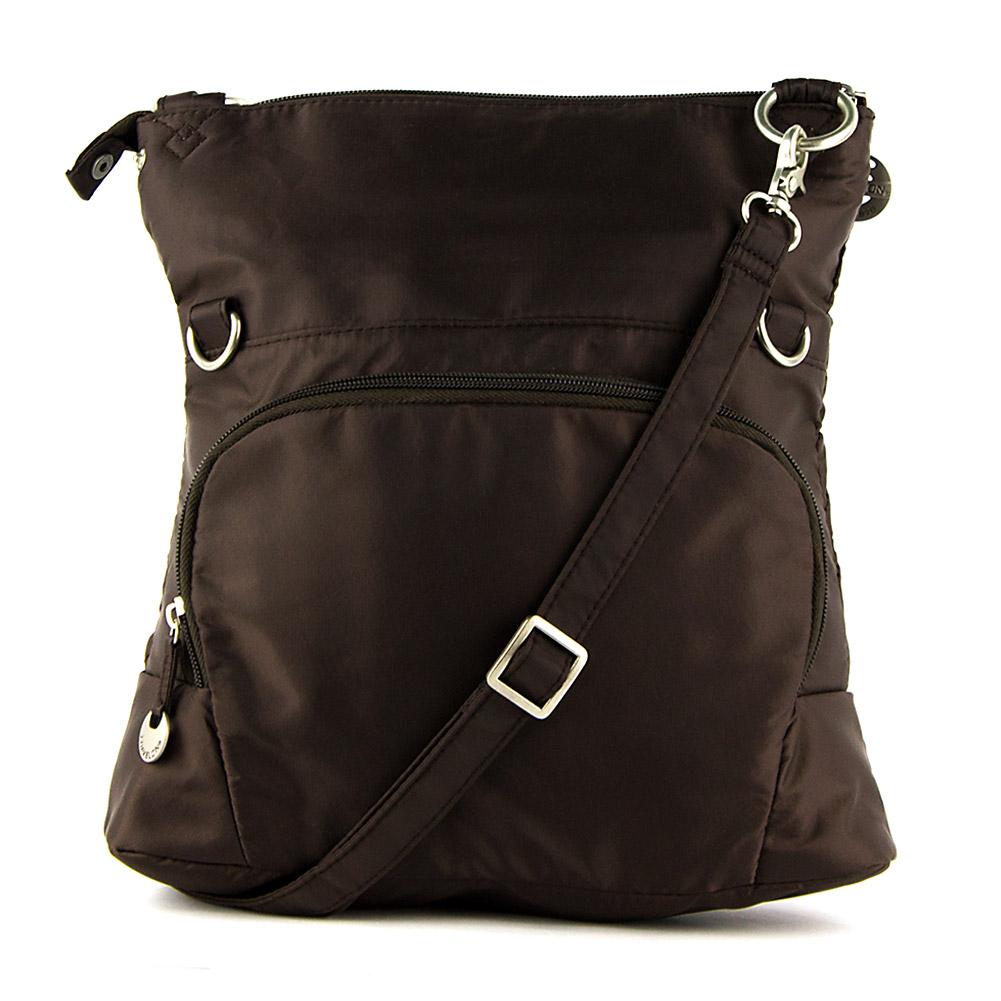 Travelon quilted fold over shoulder bag chocolate ebay