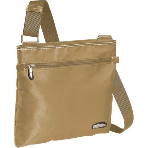 Travelon Slim Messenger Bag with Contrasting Trim (Tan) at Sears.com