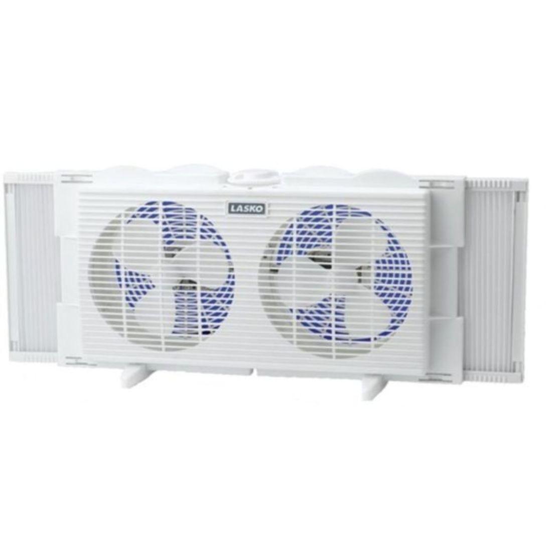 Lasko Slim Profile Twin Window Fan w/ 2 Speeds (White)