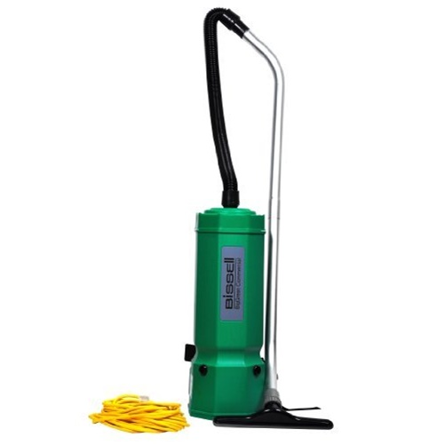 Bissell BigGreen Commercial High Filtration Backpack Vacuum, 10 qt Capacity, Red