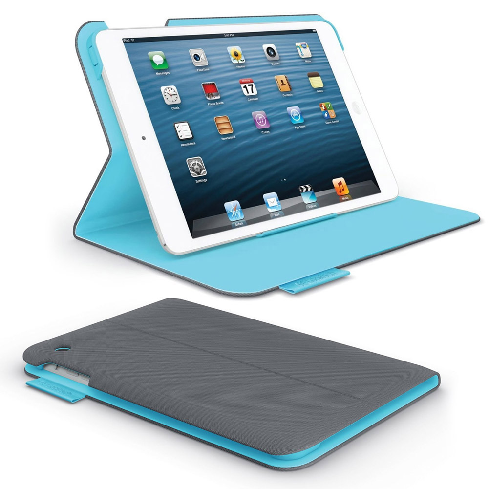 logitech folio protective case for ipad mini dark clay grey. Black Bedroom Furniture Sets. Home Design Ideas