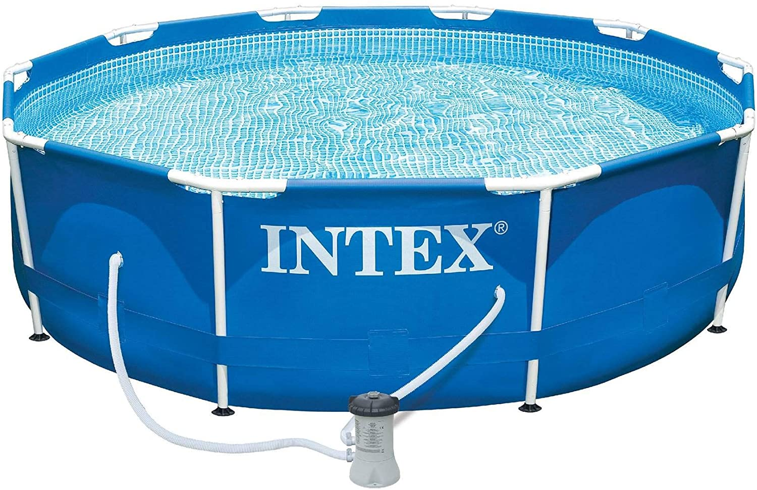 intex 10 039 x 30 034 metal frame swimming pool ebay. Black Bedroom Furniture Sets. Home Design Ideas