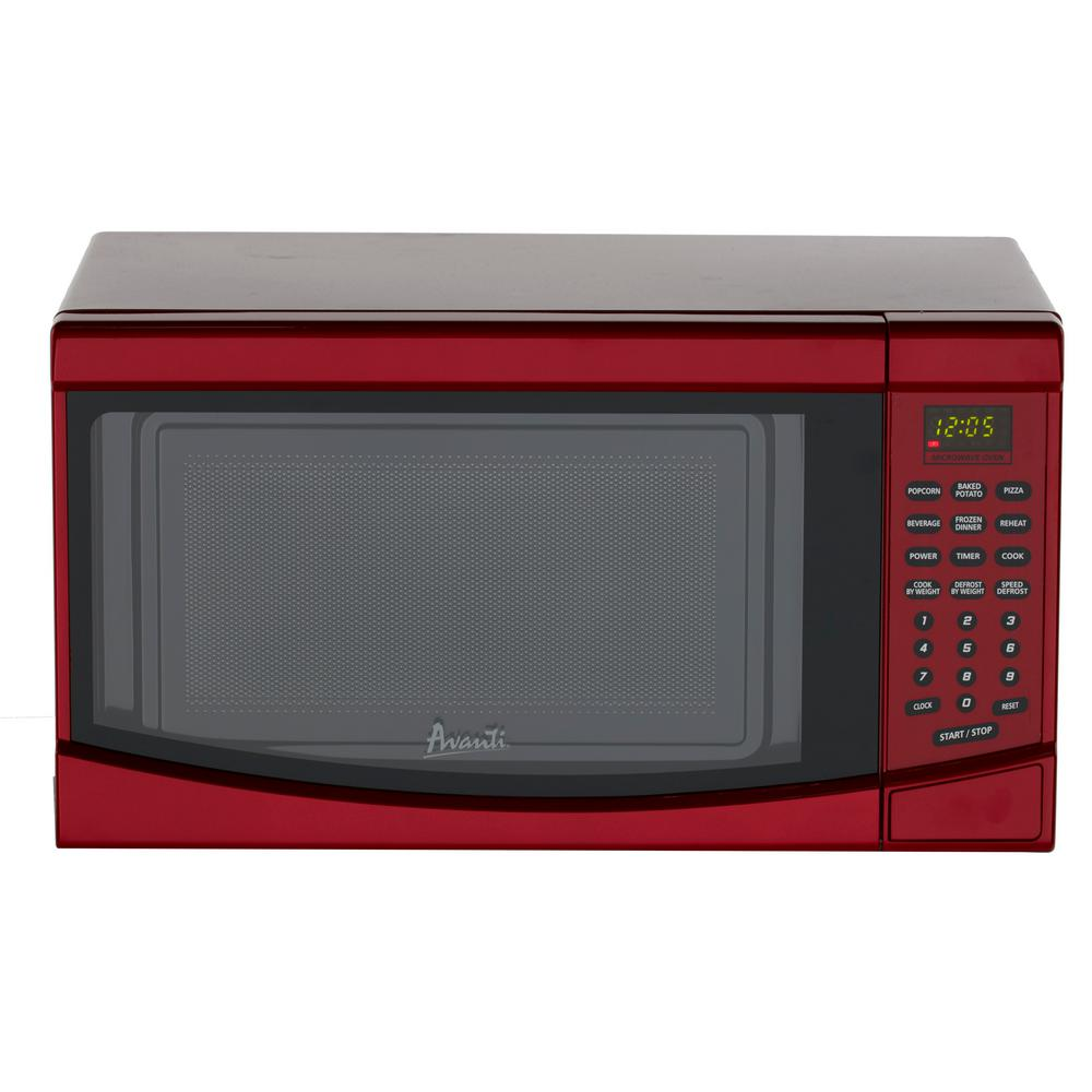 Red Countertop Microwave Oven: Avanti 0.7 Cu Ft 700 Watt Countertop Microwave Oven